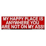 My Happy Place Bumper Sticker