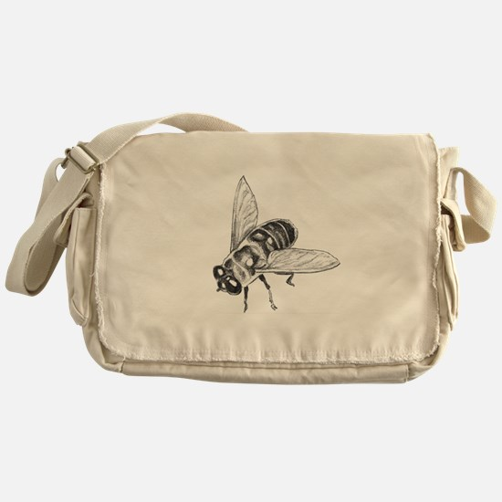 Honey Bee Art Messenger Bag