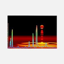 Chromatogram, 2D View - Rectangle (10 pk) Magnets