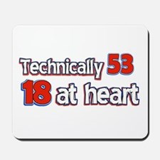 53 year old birthday designs Mousepad