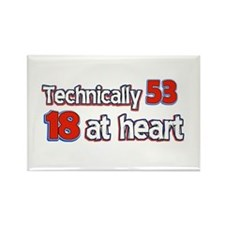 53 year old birthday designs Rectangle Magnet