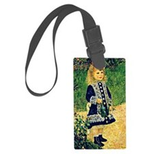 Renoir - A Girl with a Watering  Luggage Tag