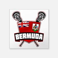 Bermuda Lacrosse Flag Logo Sticker