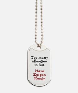 Dog Tags- too many allergies