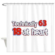 63 year old birthday designs Shower Curtain
