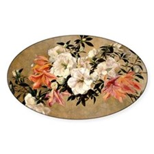 Petunias, floral painting by Henri  Decal
