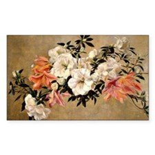 Petunias, floral painting by H Decal