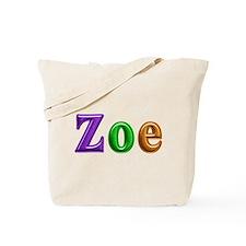 Zoe Shiny Colors Tote Bag