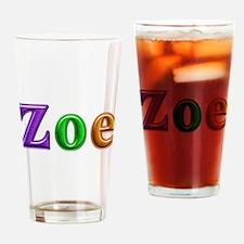 Zoe Shiny Colors Drinking Glass