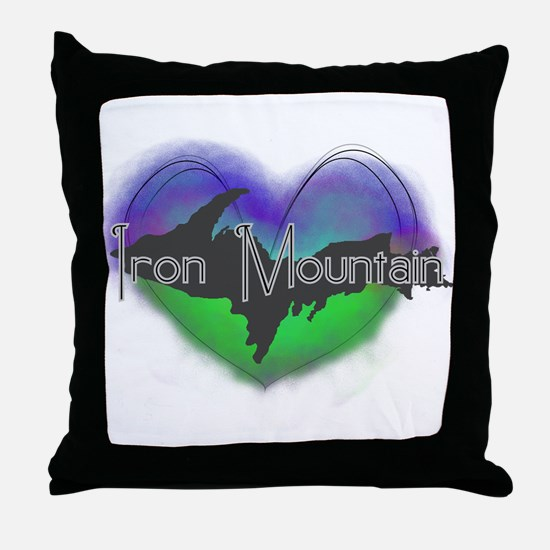 Aurora Iron Mt. Throw Pillow