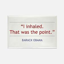 """Barack Obama Quote - """"I Inhaled"""" Magnet"""