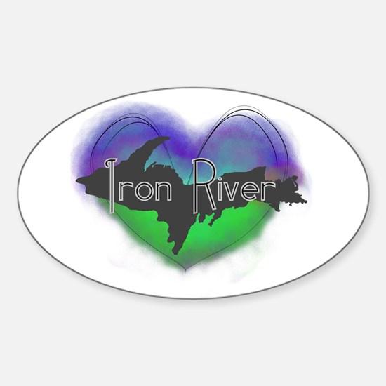 Aurora Iron River Sticker (Oval)