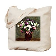 Asters in a Vase, painting by Henri Fanti Tote Bag