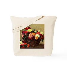 Basket of Dahlias, Henri Fantin-Latour pa Tote Bag