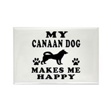 My Canaan Dog makes me happy Rectangle Magnet (100