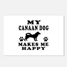 My Canaan Dog makes me happy Postcards (Package of