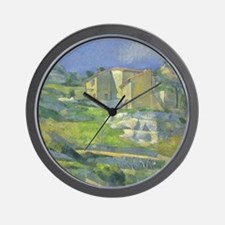 Paul Cezanne, Houses in Provence Wall Clock