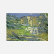 Paul Cezanne, Houses in Provence Rectangle Magnet