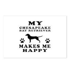My Chesapeake Bay Retriever makes me happy Postcar