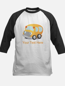 Personalized School Bus Kids Baseball Jersey