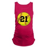 Softball Dark Maternity Tank Top
