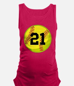 Softball Sports Personalized Maternity Tank Top