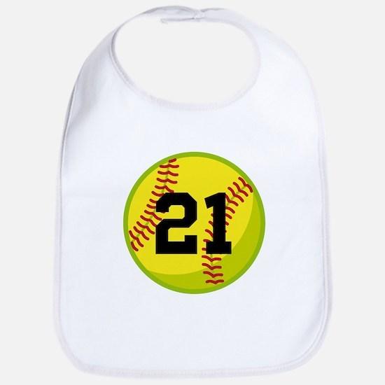 Softball Sports Personalized Bib
