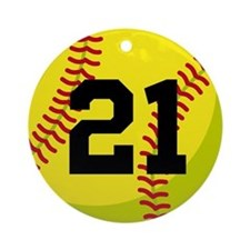Softball Sports Personalized Ornament (Round)