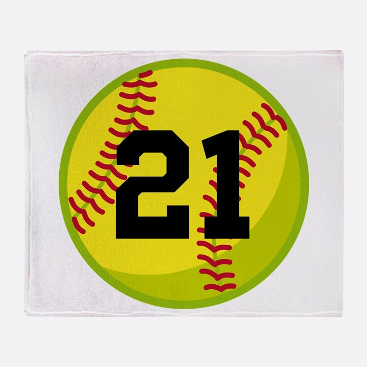 Softball Sports Personalized Throw Blanket