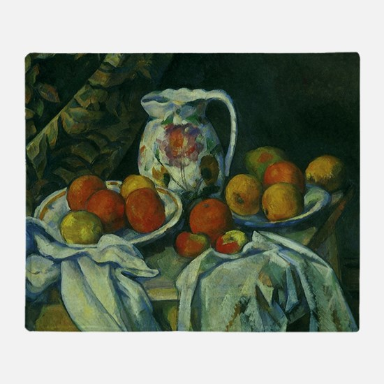 Still Life by Paul Cezanne Throw Blanket