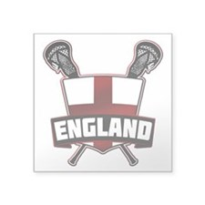 England Lacrosse Flag Logo Sticker