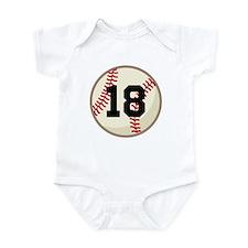 Baseball Sports Personalized Infant Bodysuit