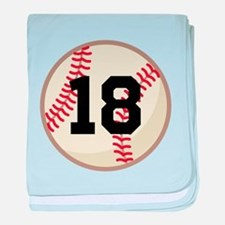 Baseball Sports Personalized baby blanket