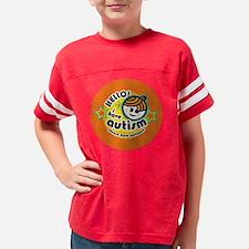 hello-button-boy1 Youth Football Shirt