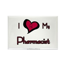 I love my pharmacist Rectangle Magnet