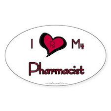 I love my pharmacist Oval Decal