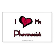 I love my pharmacist Rectangle Decal
