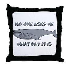 Sad Hump Day Humpback Throw Pillow