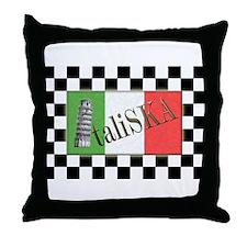 Flags of SKA: ItaliSKA Throw Pillow