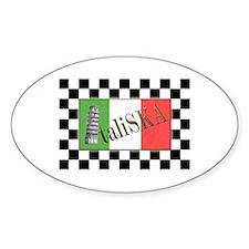 Flags of SKA: ItaliSKA Oval Decal