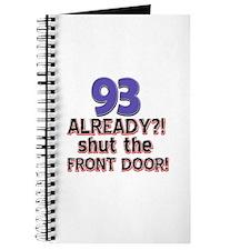 93 already? Shut the front door Journal