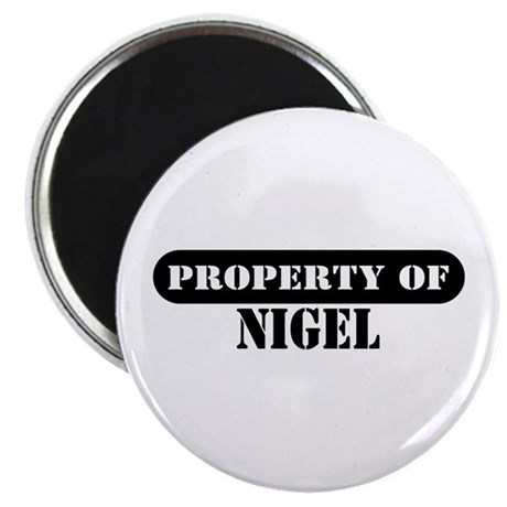 "Property of Nigel 2.25"" Magnet (100 pack)"
