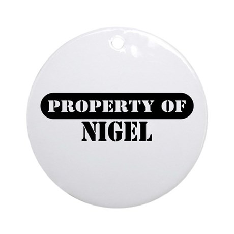 Property of Nigel Ornament (Round)