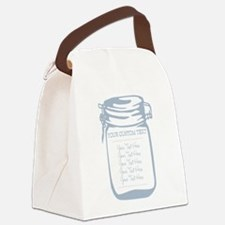 Custom Text Canning Jar Graphic Canvas Lunch Bag