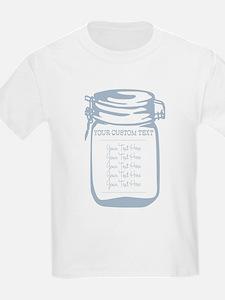 Custom Text Canning Jar Graphic T-Shirt