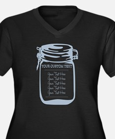 Custom Text Canning Jar Graphic Plus Size T-Shirt