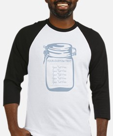 Custom Text Canning Jar Graphic Baseball Jersey