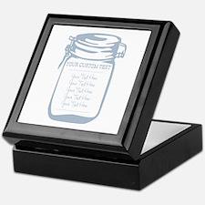 Custom Text Canning Jar Graphic Keepsake Box