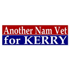 Another Nam Vet for Kerry (sticker)