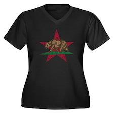 California Flag Star and Bear Plus Size T-Shirt
